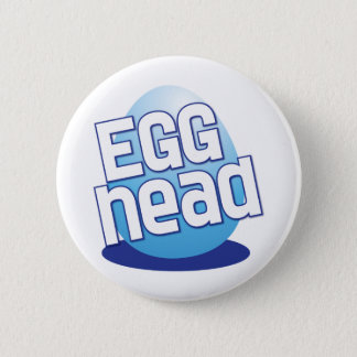 egg head easter bald funny 2 inch round button