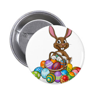 Egg Hunt Easter Bunny 2 Inch Round Button