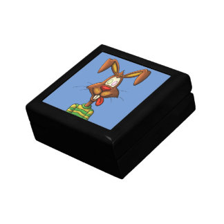 egg mad easter bunny funny cartoon drawing gift box