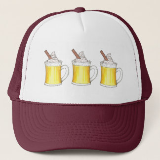 Egg Nog Eggnog Christmas Winter Drinks Hat