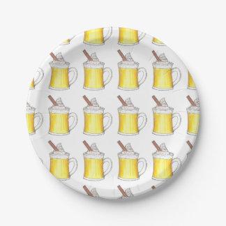 Egg Nog Eggnog Christmas Winter Holiday Plates