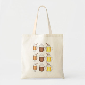 Egg Nog Hot Cocoa Buttered Rum Holiday Drinks Tote