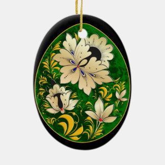 Egg Ornament - Russian Folk Art 12 - BB