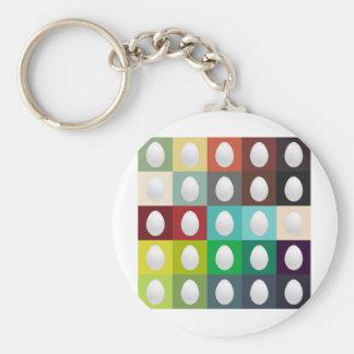 Egg Palette Basic Round Button Keychain