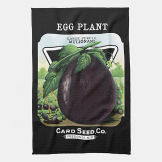 Egg Plant Seed Packet Label Kitchen Towel