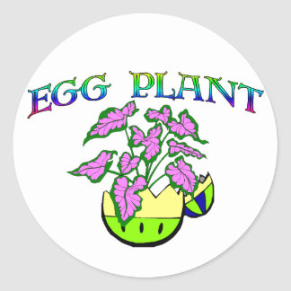 Egg Plant Round Stickers