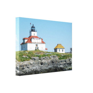 Egg Rock Lighthouse Wrapped Canvas Print