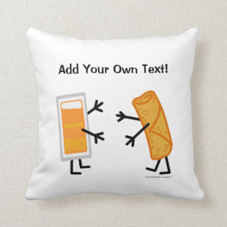 Egg Roll & Duck Sauce (Customizable) Throw Pillow