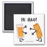 Egg Roll & Duck Sauce - Ni Hao! Fridge Magnets