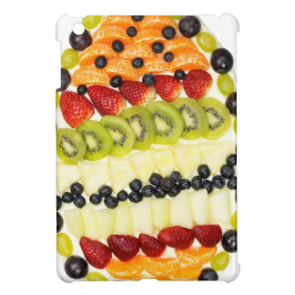 Egg shaped fruit pie with various fruits iPad mini covers