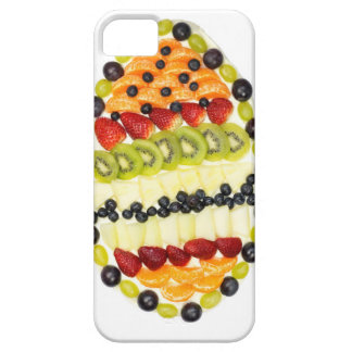 Egg shaped fruit pie with various fruits iPhone 5 case