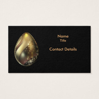 Egg with Metallic Pattern Business Card