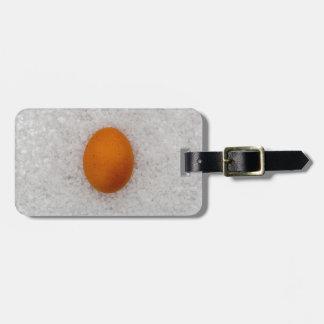 Egg with salt luggage tag