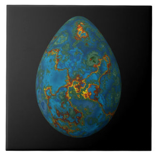 Egg with Veins of Metal Tile