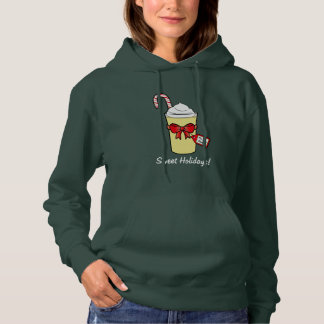 Eggnog with Christmas Cane and Bow Hoodie