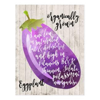 eggplant aubergine organic art postcard