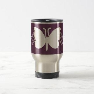 Eggplant Butterfly Swirls Mug