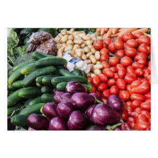 Eggplant Cucumbers Tomatoes Potatoes Vegetable Mix Card