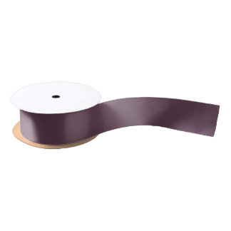 Eggplant High Quality Color Matching Satin Ribbon