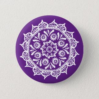 Eggplant Mandala 2 Inch Round Button