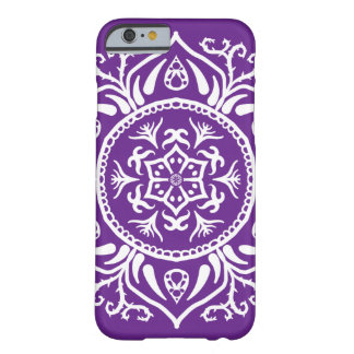 Eggplant Mandala Barely There iPhone 6 Case
