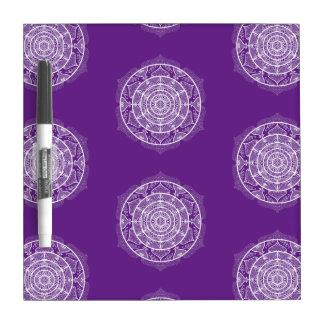 Eggplant Mandala Dry Erase Board