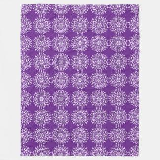 Eggplant Mandala Fleece Blanket