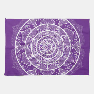Eggplant Mandala Kitchen Towel