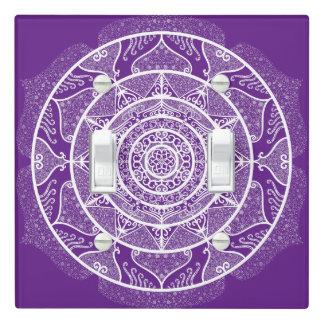 Eggplant Mandala Light Switch Cover