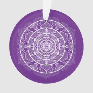 Eggplant Mandala Ornament