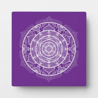 Eggplant Mandala Plaque