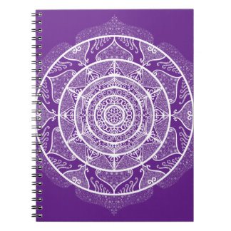Eggplant Mandala Spiral Notebook