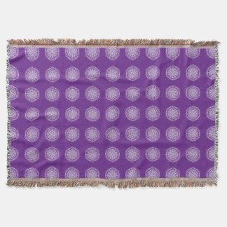 Eggplant Mandala Throw Blanket