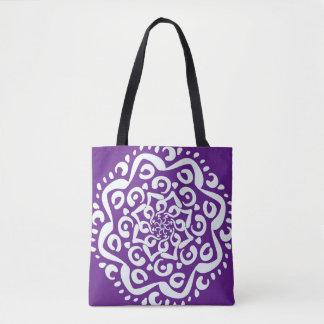 Eggplant Mandala Tote Bag