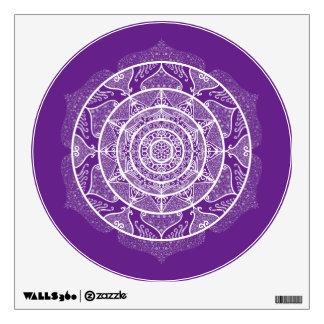Eggplant Mandala Wall Decal
