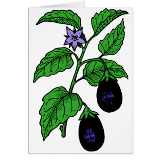 Eggplant Note Cards