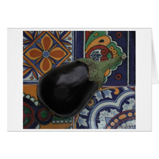 Eggplant on Tiles Card
