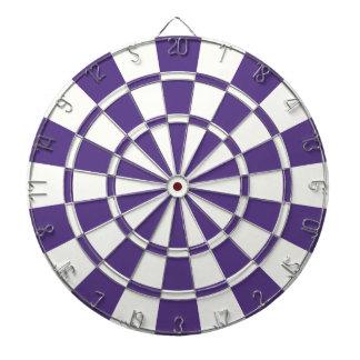 Eggplant Purple And White Dartboard