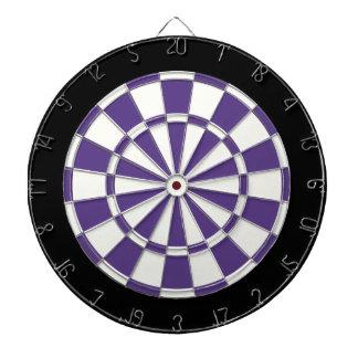 Eggplant Purple Black And White Dartboard
