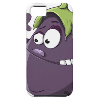 Eggplant Purple Vegetable Eyed Toothy Cartoon Case For The iPhone 5
