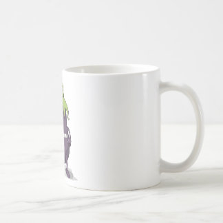 Eggplant Purple Vegetable Eyed Toothy Cartoon Coffee Mug