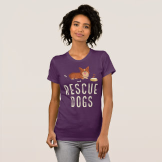 Eggplant Rescue Dogs Shirt
