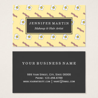 Eggs and Bacon Breakfast Foodie Funny Pattern Business Card