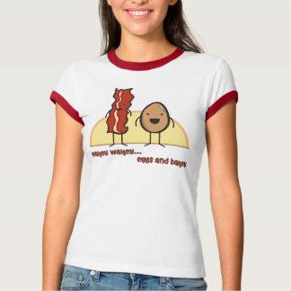 Eggs and Bacon Girls Ringer T-Shirt