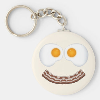 Eggs and Bacon Grin Keychain