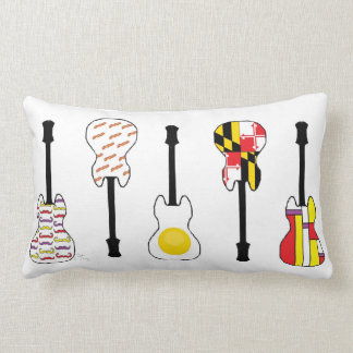 Eggs and Bacon in Maryland with Modern Art Lumbar Pillow
