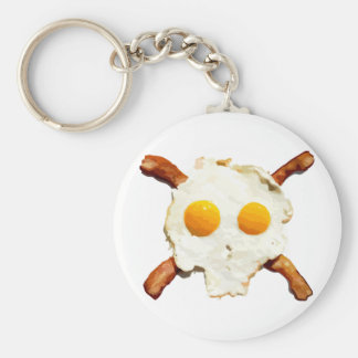 Eggs and Bacon with a side of Skull Key Chain