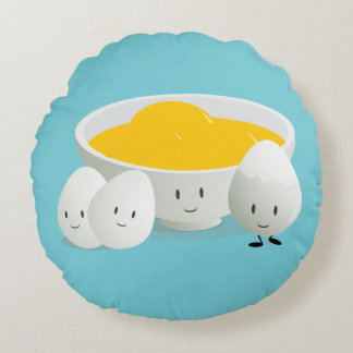 Eggs and Egg Yolks   Round Pillow