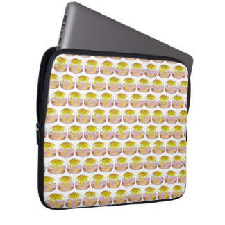 Eggs Benedict Breakfast Diner Food Foodie Ham Laptop Sleeve