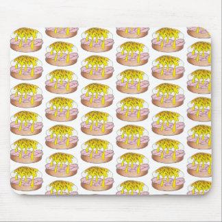Eggs Benedict Breakfast Diner Food Foodie Ham Pink Mouse Pad